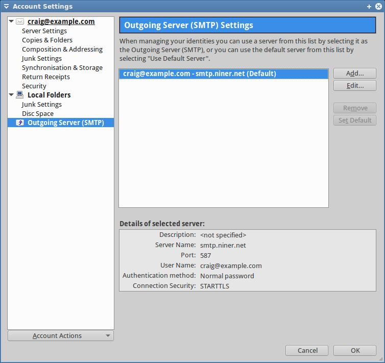 smtp « NinerNet Communications™ (System Status)